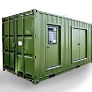 Стандартные военные контейнеры фото