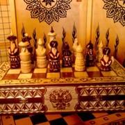 Шахматы резные фото