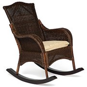 Кресло-качалка плетёное Бали (Bali) + Подушка фото