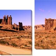 Модульная картина Пустыня , Неизвестен фото
