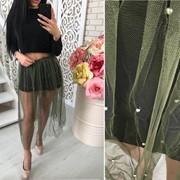 Женская летняя юбка с декором, в расцветках (ОС-8-0418) фото