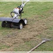 Вычесывание газона (скарификация газона) фото