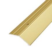 ЛУКА Порог разноуровневый ПР 04-1800-02 золото (1,8м) 45мм перепад 15мм фото