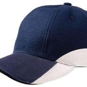 Бейсболка Unit Discovery, синяя с белым фото