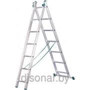 Двухсекционная лестница 7 ступеней 7507 фото