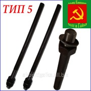 Болты фундаментные прямые тип 5 м12х350 сталь 35Х ГОСТ 24379.1-80 фото