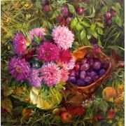 Картины маслом осень фото