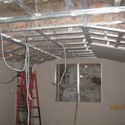 Каркас для монтажа потолка из гипсокартона