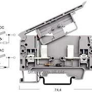 Клемма соединительная (проходная) Klemsan с держателем предохранителя и светодиодом серии ASK 2 LD фото