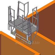 Площадка навесная для полувагонов (с откидным трапом) без лестниц фото