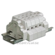 Блок зажимов наборных безвинтовых проходных БЗН29-4П25 фото