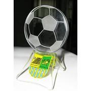 Сувенир - кубок футбольный из стекла фото