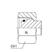 Заглушка V / коническая резьба 24° с упл. кольцом VP Тип: 1073..-D фото