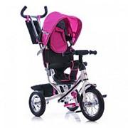 Велосипед трехколесный Azimut TRIKE AIR надувные колеса со спицами розовый фото