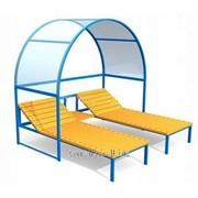 Лежак двухместный с навесом фото