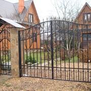 Распашные ворота 4 фото