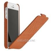 Чехол Borofone for iPhone 5/5S Crocodile Flip Leather case Orange (BI-L019-O), код 56068 фото