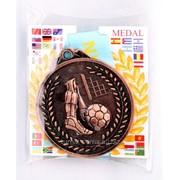 Медаль рельефная футбол - бронза фото