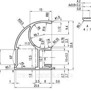 """8. Профиль алюминиевый для шкафов купе """"ASIAL"""" вертикальный асимметричный, термоперевод, цвет венге матовый, термоперевод фото"""
