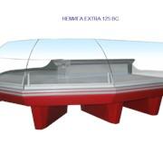 Витрина среднетемпературная с высоким стеклом НЕМИГА EXTRA 125 ВС фото