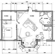 Выполнение плана расстановки мебели и оборудования