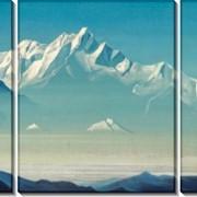 Модульная картина Гора пяти сокровищ (Два мира). Из серии «Святые горы», Рерих Николай Константинович фото