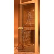 Дверь для бани АКМА Арт с Гравировкой НИМФА 7х19 (коробка липа)