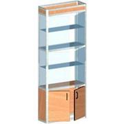 Шкаф из алюминиевого профиля, со стеклянными стенками фото