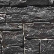 Фасадная панель Novik с фактурой «Дикий камень», цвет Onyx фото