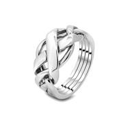 Мужской серебряный перстень головоломка от Wickerring фото