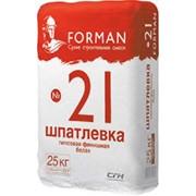 Шпатлёвка финишная гипсовая белая Форман 21 фото