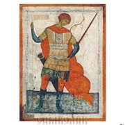 Икона св. Георгий Победоносец, пеший, середина XVI в. Новгород фото