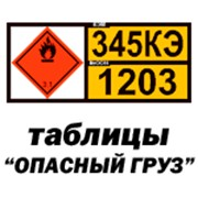 Информационные таблицы опасных грузов фото