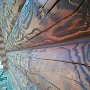 Образивно струйная шлифовка деревянных домов фото