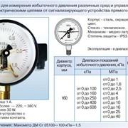 Манометры ДМ Сг 05 сигнализирующие ГОСТ 2405-88 фото