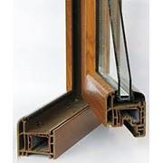 Ламинированные металлопластиковые окна фото
