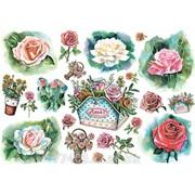 Карта рисовая Цветы рисунок фото