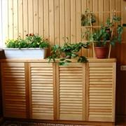 Дверца жалюзийная из дерева фото