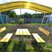 Беседка садовая Тюльпан 3 м, поликарбонат 4 мм, цветной + мангал в подарок фото