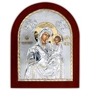 Икона Скоропослушница Божья Матерь Серебряная 260 х 310 мм Греция фото