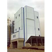 Строительство из легких стальных конструкций, укрытие бетонного завода фото