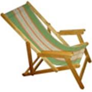 Кресло-шезлонг деревянное складное НМС 08.00, массив берёзы, лак фото