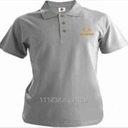 Рубашка поло SsangYong серая вышивка золото фото