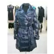 Пальто-пуховик, цвет – синий фото