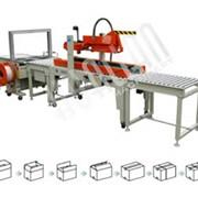 Автоматическая упаковочная линия для заклейки и обвязки коробов XFK-2 фото