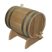 Бочка для вина дубовая на подставке 10л фото