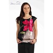 Блуза 4501 Цветок цвет фото