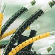 Защитная спираль, пластиковая защитная оплетка фото