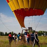 Полет на воздушном шаре в Киевской области в группе 12 чел. фото