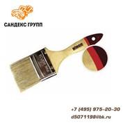 """Кисть """"ЕВРО"""" (деревянная ручка, натуральная щетина), 76мм фото"""